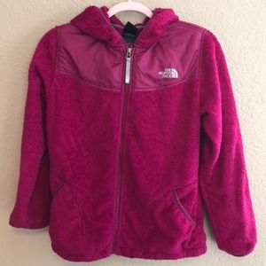 Super fuzzy and comfy pink north face zip up